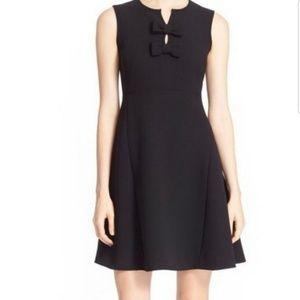 Kate Spade Black Kite Bow Crepe Dress